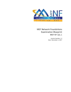 Mef nf network foundations certification exam blueprint mef current malvernweather Choice Image